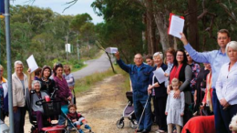 Labor candidate Doug Vincent with concerned residents