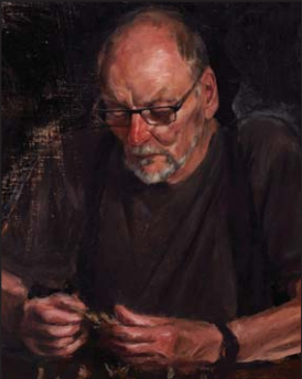 Jordan Richardson's portait of Mr John Bell was hung in the 2017 Archibald Prize