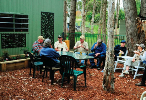 The last Friday of the month is BBQ day at Erina Community Men's Shed