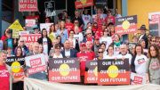 Community opposition to the Wallarah 2 coal project at a PAC hearing earlier this year