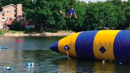 Water activities are popular at Camp Breakaway