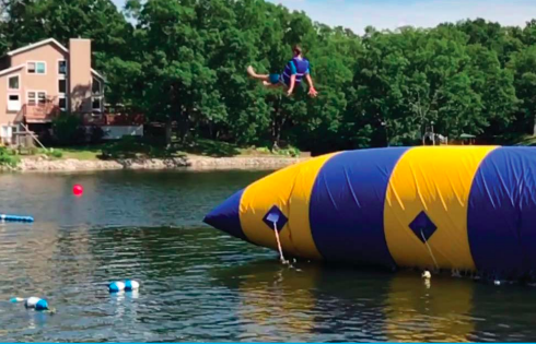 Water activities are popular at Camp Breakaway