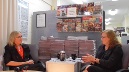 Central Coast Mayor Jane Smith in conversation with senior journalist Jackie Pearson
