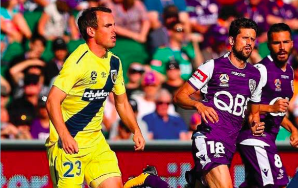 Man of the Match Wout Brama dribbling against Perth Glory