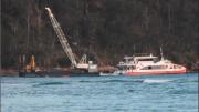 Ettalong Channel dredging resumed on September 25 Photo: Julian Bowker