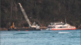 Ettalong Channel dredging resumed on September 25 Photo: Julian Bowker