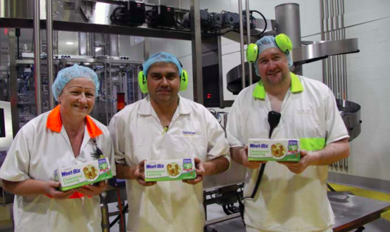 Sanitarium employees with the new cholesterol lowering product