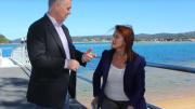 Liesl Tesch MP for Gosford discussing issues relating to the Ettalong - Palm Beach Wagstaffe ferry