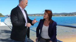 Liesl Tesch MP for Gosford discussing issues relating to the Ettalong - Palm Beach Wagstaffe ferry