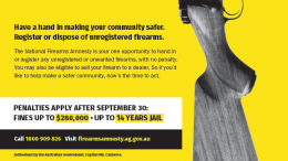 Wyong LAC had a good response to the National Firearms Amnesty