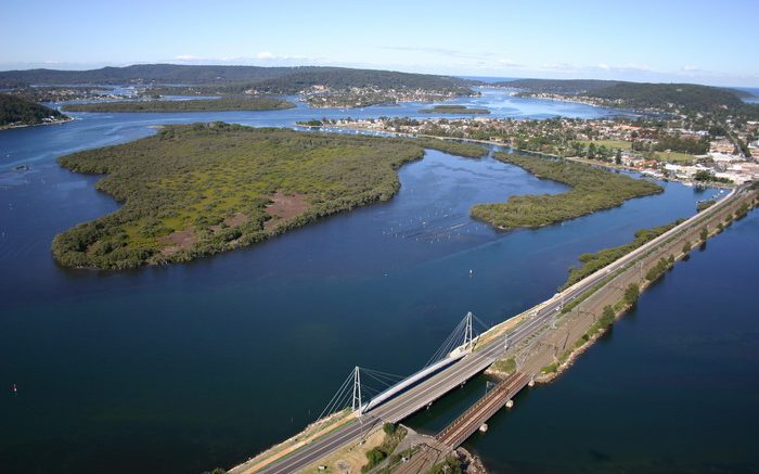 Spike Milligan Bridge at Woy Woy .Image: RMS NSW