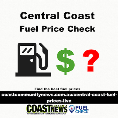 Petrol & diesel prices live, Central Coast