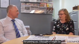 David Harris MP interviewed by Jackie Pearson