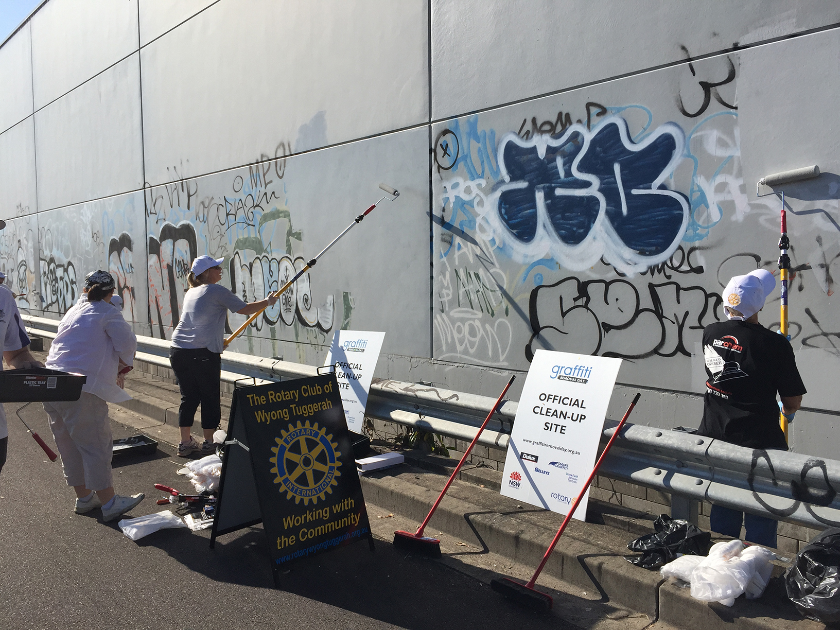 Graffiti removal day encouraged action to defeat graffiti vandalism