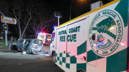 Central Coast Rescue Squad arrive on the scene