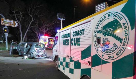 Central Coast Rescue Squad arrive on the scene
