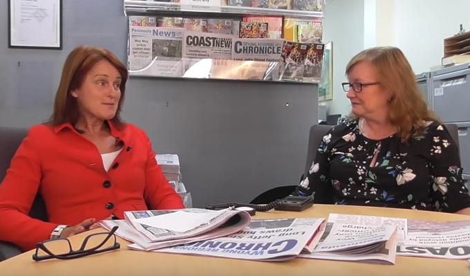 Gosford MP Liesl Tesch talks to Jackie Pearson
