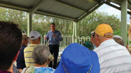 Mr Scot MacDonald met with community members campaigning for a Lisarow Station upgrade
