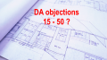 How many objections to a DA should there be before being presented to Central Coast council?
