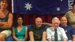 Woy Woy Little Theatre's cast for Australia Day