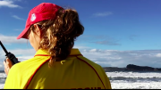One of the inspiring people, a local surf life saver tells her story of helping save a life. image; Central Coast Surf Life Saving