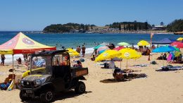 Terrigal Beach Umbrellas. Image; Terrigal Surf Life Saving Club