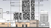 Designs for tower block at 21 to 25 Mann St, Gosford