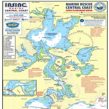 The new Brisbane Water Marine Map 2018