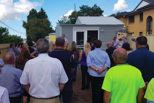 Opening of the Tiny Homes project in Gosford.