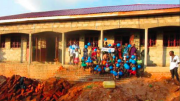 The completed classrooms in Uganda