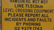 Residents who reported the incident to the number shown on the sign were told trains had been ordered to slow down to avoid cars and pedestrians
