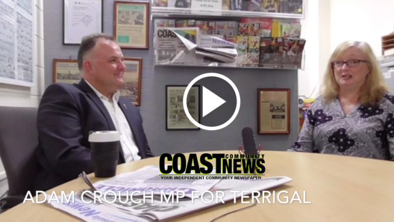 Adam Crouch Mp for Terrigal talks to Jackie Pearson