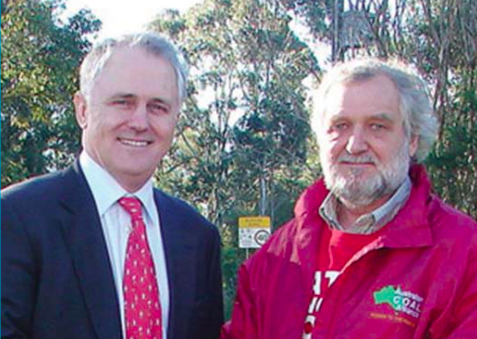 Prior to becoming Prime Minister, Mr Malcolm Turnbull had been supportive of the Australian Coal Alliance; now Mr Alan Hayes (right) hopes Minister for the Environment, Mr Josh Frydenberg, will stop the mine