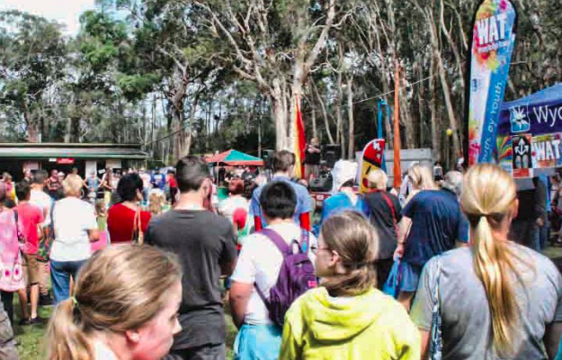 Crowds at a past GOATS festival on the Central Coast.