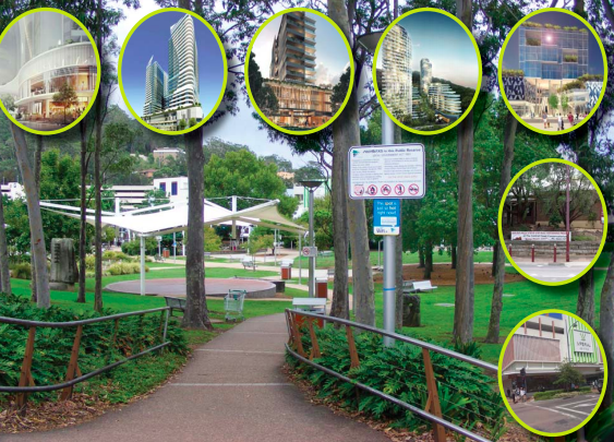 Kibble Park and surrounds have been identifi ed as Gosford's civic heart by the Government Architect