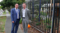 David Mehan and Jihad Dib outside the Glenvale school at North Entrance