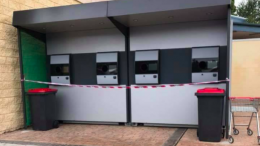 A reverse vending machine located next to Coles at Wadalba. Image via Facebook page of MP David Harris