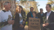 Clr Louise Greenaway supporting the Save Wyong Trees campaign in 2015 before she became a local councillor