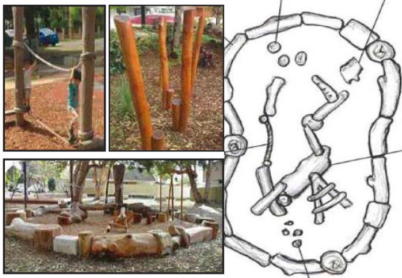 A concept plan for the new natural wood play area