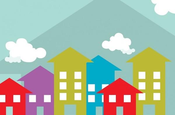 Housing graphic for illustration