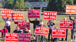 ACA members stand determined to protect the catchment from coal mining. Image: ACA