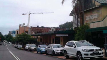 The former Broadwater Hotel site from Mann St in Gosford CBD