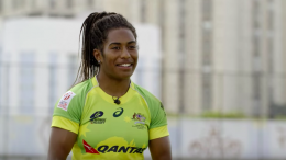 Former Kincumber High School student and Olympic Gold Medallist Ellia Green is a member of the ground-breaking women's Sevens team. Image: World Rugby Interview