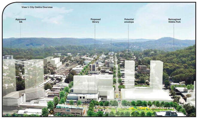 City centre overview including diagrams of proposed and approved developments