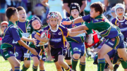 A big Narara crowd turned out to watch Gosford's under 8s clash with the Raiders Photo: Andrew Stark