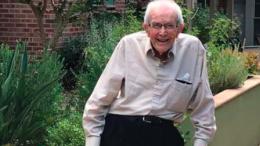 Mr John Lloyd celebrated his 104th birthday
