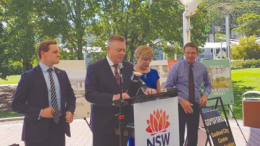 Mr Taylor Martin MLC, Mr Anthony Roberts NSW Minister for Planning, Ms Lee Shearer Coordinator General and Mr Scot MacDonald Parliamentary Secretary, release the report on proposals for Kibble Park