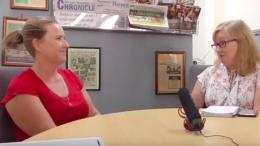 Councillor Lisa Matthews speaks with Senior Journalist Jackie Pearson