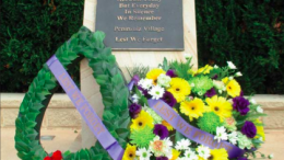 Peninsula Villages onsite memorial on Anzac Day 2017