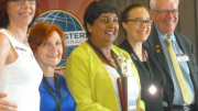 First place Prema D'Cruz (Centre). Image: Wyong Toastmasters